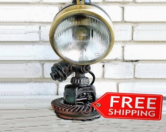 Edison lamp Rustic decor Industrial lamp Steampunk light Housewarming gift Etsy gifts for men & women Bedside lamp accessories Etsy lighting