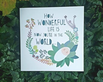 Square Card- 'Wonderful Life'