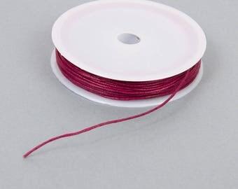 Spool of 10 meters of waxed thread 1 mm plum