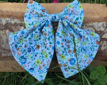 Bow for girl, Bow tie for womens, Women Bow tie, Statement necklace, Floral Bow tie, Blue Bow tie Brick bow tie Flower bow tie Bow tie women