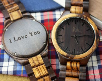 Wooden Watch Men Father of the Groom Gift for Groom Wood Watch for Boyfriend Gift for Husband Gift for Men Gift for Groomsmen Gift for Him