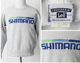 Vintage Men's Sweatshirt Shimano Cycling - 90s Retro Tour de France Extra Large XL