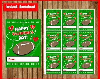 football valentines day sport valentines day cards printable valentine cards football happy valentines - Football Valentine Cards