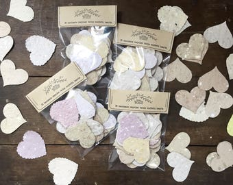 Rustic Handmade Paper Confetti Hearts | Eco Friendly | Wedding | Decorations | Table Decor | Party | Rustic | Recycled | Wedding Favours