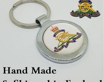 Made to Order Royal Artillery Key Ring - A Great Gift