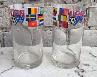 Pair of cool USA94 juice glasses