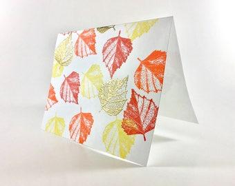 Aspen Leaves Card