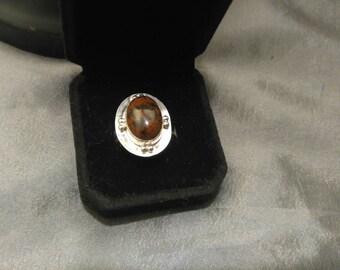 Red Jasper Stone Ring sz 7