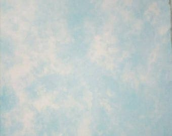 In the Clouds Blue and White Hand Dyed Cross Stitch Fabric 28ct Monaco