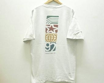 Vintage 1992 NIKE SWOOSH logo Just Do It t shirt size L