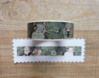 Tape 10 cm 1.5 m drawing cats