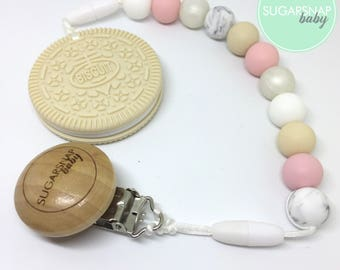 Vanilla Cream Oreo cookie teether - biscuit teether - chew toy - Bpa Free - teether - baby/toddler - safety breakers - toy - baby shower