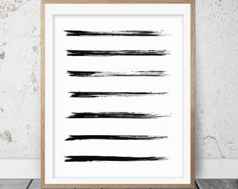 Brush Stroke Print, Brush Strokes, Abstract Printable, Paint Brush Stroke, Simple prints, Contemporary Art, Abstract Painting, Ink, 134