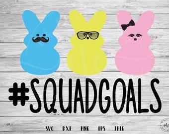 Squad Goals SVG, hashtag, peeps svg, Easter, Cut file, Easter SVG, Peeps, Bunny svg, Cricut, Silhouette, Cut Files, svg, dxf, png, eps, jpeg