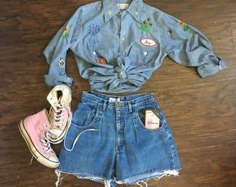Vintage 90s High Waisted Calvin Klein Shorts mom jeans Sz 6