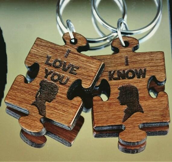 Wooden Key Chain,  Key Chain,  Star Wars Key Chain,