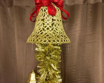 Gold bell Christmas deco