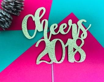 Cake Art Decor Zeitschrift 2018 : New year decor Etsy