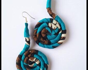 Wax swirl earrings