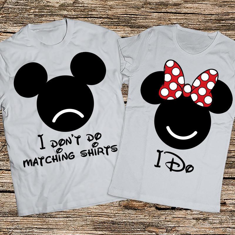Brand new I Don't Do matching shirts I do, Funny disney couple shirts  IC62