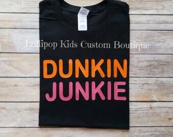 Dunkin Junkie short sleeve black shirt