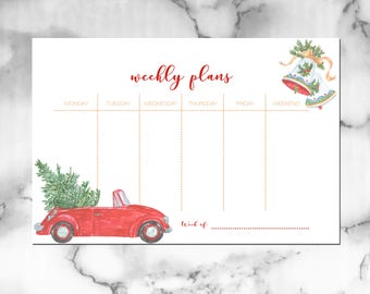 Weekly Plans [A5 Insert, Christmas]