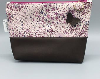 pretty Butterfly faux leather clutch