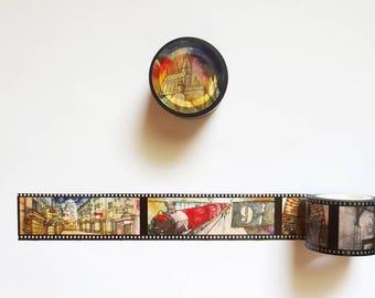 Harry Potter Washi Tape, Harry Potter Iconic Places Washi Roll, Hogwarts Express, Diagon Alley, Platform 9 3/4, Deco Tape, Masking Tape