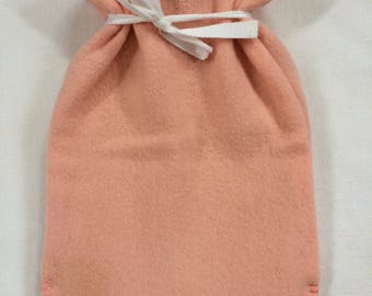 Hot Water Bottle Cover- hand made from wool blanket-  Prettiest Pink