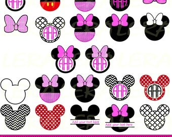 60 % OFF, Mickey Ears Svg, Mickey Monogram Frames SVG, Mouse Svg, Dxf, Eps, Png files for Cricut, Chevron SVG, Vector Art, Digital Cut Files