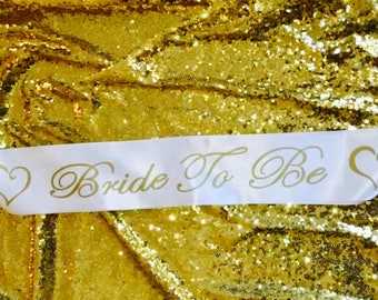 Bride to be sash with hearts  Sash Ready to ship