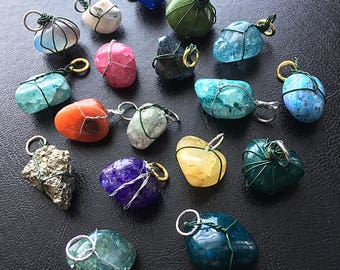 Colored stone pendants