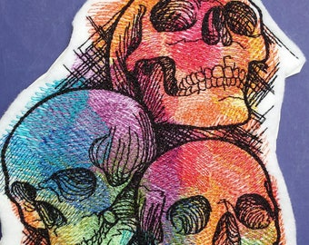Skull patch, rainbow patch, electric patch, bones patch, skeleton patch