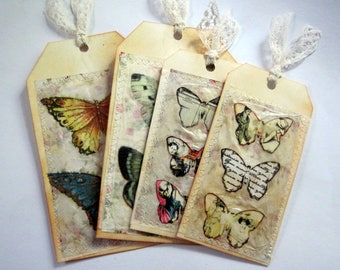 Hand made, butterfly tag set 21