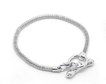 Bracelet 18cm European bracelet Toggle clasp