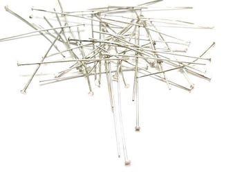 350 nail head Matte Silver Plate pins 45 x 0, 7mm