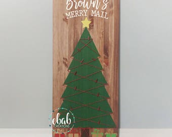 merry mail sign christmas card display christmas card holder card holder christmas - Christmas Card Tree Holder