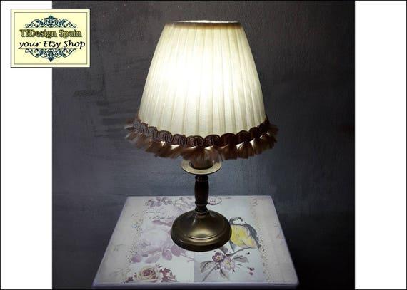 Table lamp, Table lamp living room, Table lamp for bedroom, Table lamp Etsy, Table lamp small, Table lamp ribbon, Table lamp vintage 29cm