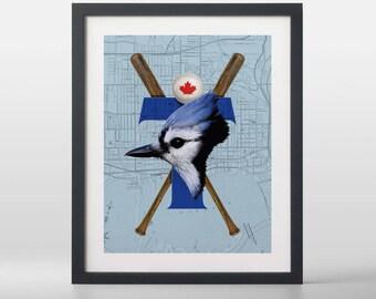 Toronto Blue Jays-inspired Baseball Art Print