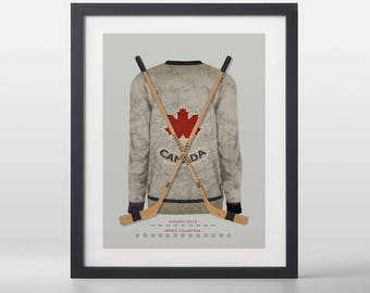Canadian Pride: 1932 Hockey Canada Art Print