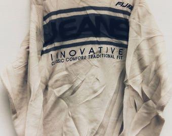 Rare Vintage 90s FUBU Hip Hop Oversized XXL Knitted Sweatshirt