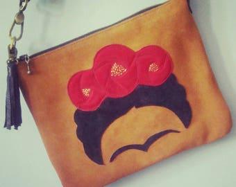 Frida Crossbody Purse, Day bag, Leather Purse, Casa Azul, Flower Purse, Mexico, Mexican Artist, Leather Bag, Fridamania