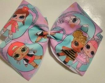 "LOL Surprise hair bow, LoL bow, 7"" hair bow, Mini dolls hair bow, Lol surprise dolls hair bow, Xlarge hair bow, Lol party bow"