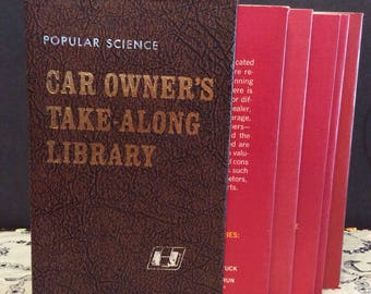 Vintage Car Owners Take Along Library ~ Popular Science 1971 How To Do and What To Do Car Owners Library