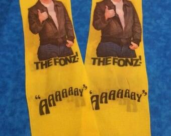 Vintage  Nylon Knee Highs ~ Happy Days ~ The Fonz ~ Fonzie Hosiery
