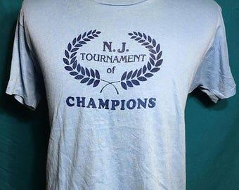 25% OFF SALE Vintage 80s N.J. Tournament of Champions 1980s Soft Screen Stars t shirt - vintage tees - vintage t shirt - 80s tshirt (Xl)