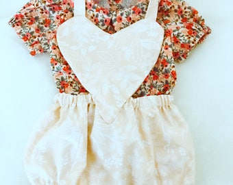 Sweetheart Romper and Peter Pan Collar Shirt Outfit | Pink