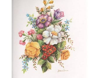 Lithograph for 3D painting 24 x 30 cm flower