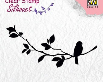 Stamp clear transparent scrapbooking NELLIE's CHOICE bird singing