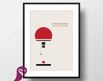 Bauhaus Lampe Poster | Wilhelm Wagenfeld | Bauhaus | Interior Design | Wall Decor | Home Decor | Prints | Poster | Digital Paper | Minimal